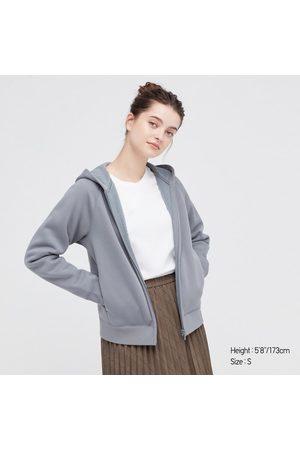 UNIQLO Women Long sleeves - Women's Soft Pile-Lined Sweat Long-Sleeve Full-Zip Hoodie, , XXS