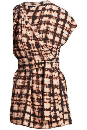 Proenza Schouler Women Wrap tops - Belted Tie-Dye Wrap Top