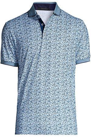 GREYSON City of Roses Floral Print Polo Shirt