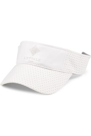 L'Etoile Sport Perforated Faux Leather Visor