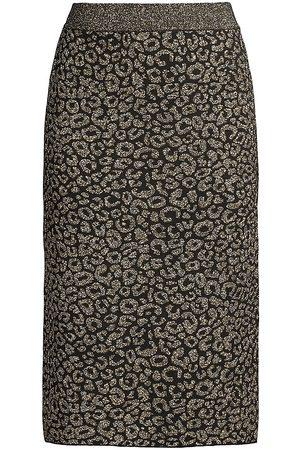 ELIE TAHARI Leopard Print Pencil Skirt