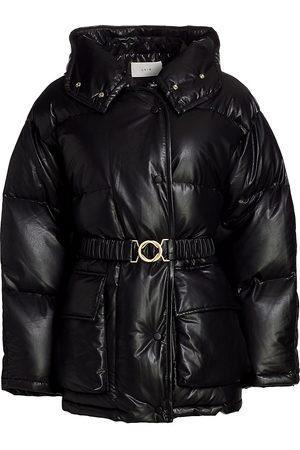 LVIR Faux Leather Puffer Jacket