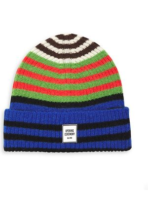 Opening Ceremony Striped Beanie Hat
