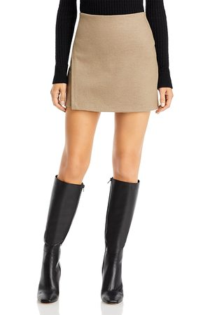 Vince Asymmetrical Slit Mini Skirt