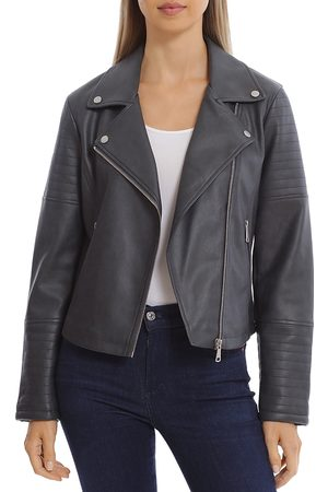 BAGATELLE Women Leather Jackets - Faux Leather Moto Jacket