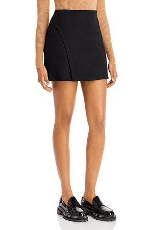 Vince Women Mini Skirts - Asymmetrical Slit Mini Skirt