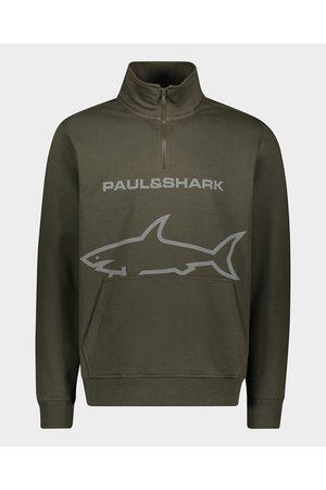 Paul & Shark Organic cotton zip sweatshirt Winter fleece with Logos