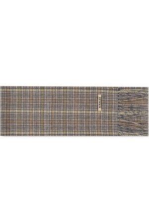 Auralee Men Scarves - Cashmere Checked Scarf