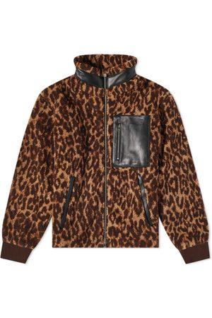 AMIRI Men Fleece Jackets - Printed Leopard Polar Fleece Jacket