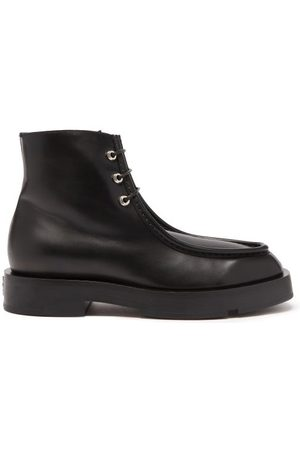 Givenchy Lace-up Leather Boots - Womens