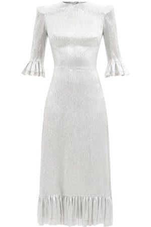The Vampire's Wife The Falconetti Ruffled Metallic Silk-blend Dress - Womens
