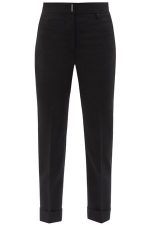 Givenchy High-rise Wool-blend Straight-leg Trousers - Womens