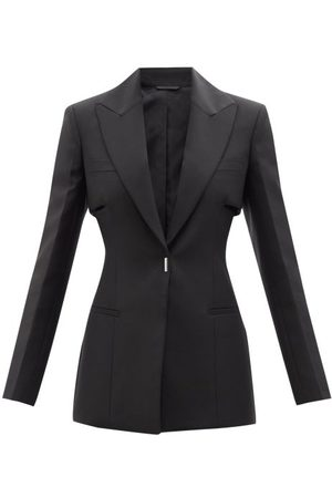 Givenchy Women Blazers - Single-breasted Wool-blend Crepe Jacket - Womens