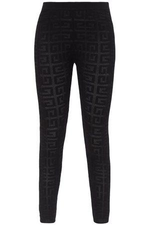 Givenchy Monogram-jacquard Mesh Leggings - Womens