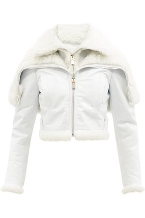 Givenchy Hooded Shearling-lined Leather Jacket - Womens