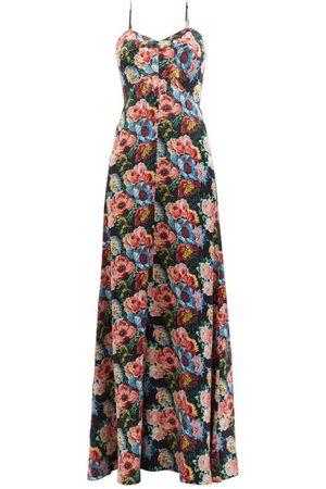 The Vampire's Wife The Love Bug Floral-print Silk-satin Dress - Womens - Multi
