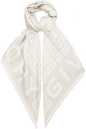 Givenchy 4g-jacquard Silk-faille Scarf - Womens - Ivory