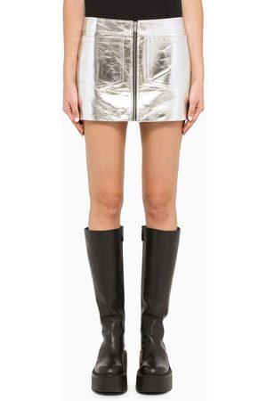 Saint Laurent Silver mini skirt