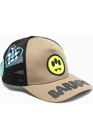 BARROW Beige/black baseball cap with patches
