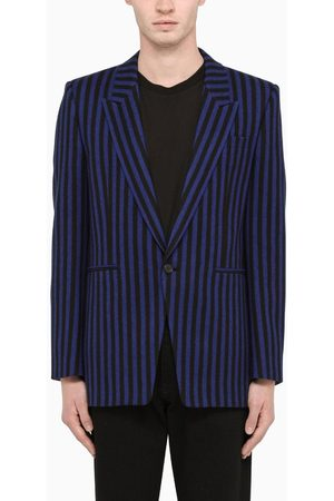 Saint Laurent Striped single-breasted jacket /blue