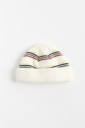 Urban Outfitters UO Striped Short Roll Beanie