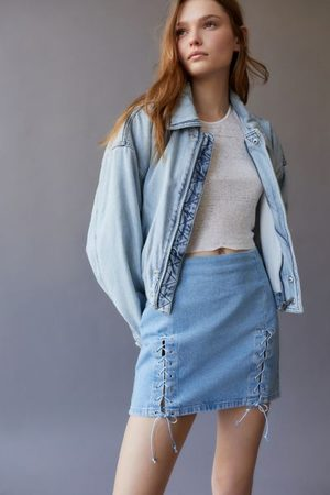 Urban Outfitters UO Rebecca Lace- Up Denim Skirt
