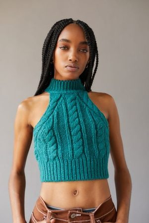 Urban Outfitters UO Kerrie Mock Neck Sleeveless Sweater