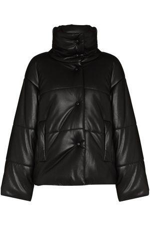 Nanushka Women Leather Jackets - Hide vegan leather puffer jacket