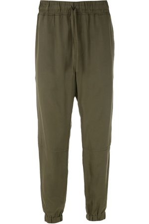 HANDRED Straight Leg Pants - Elasticated ankles trousers