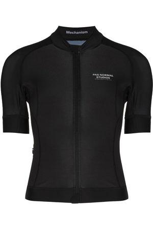 Pas Normal Studios Mechanism jersey zip-up T-shirt