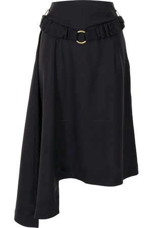 EUDON CHOI Belted asymmetric skirt