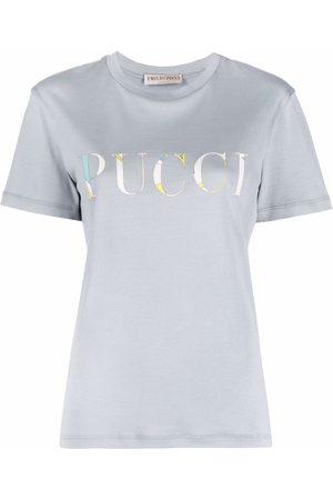 Emilio Pucci Logo-print cotton T-shirt - Grey