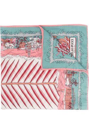 Emilio Pucci Cortina d'Ampezzo-print cashmere scarf