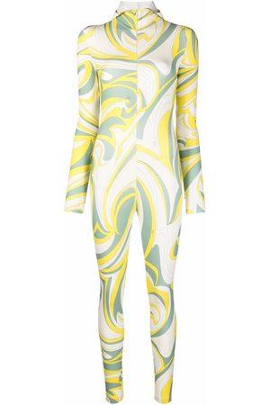Emilio Pucci Nuages-print hood jumpsuit