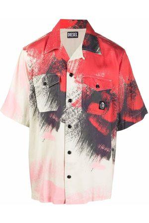 Diesel Paint stroke-print shirt - Neutrals