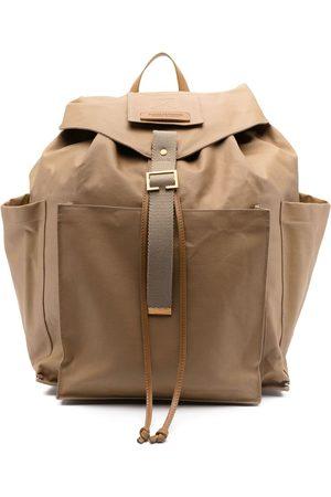 Dsquared2 Men Rucksacks - Logo-patch buckle backpack - Neutrals