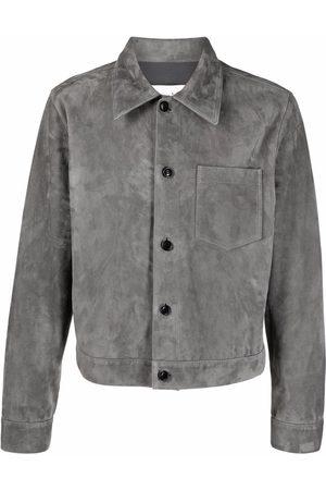 Ami Button-up suede jacket - Grey