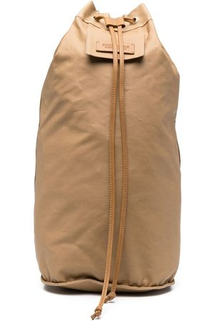 Dsquared2 Logo-patch drawstring backpack - Neutrals