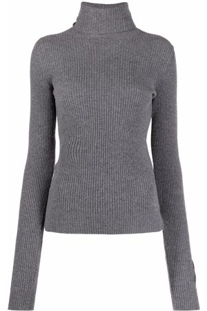Dsquared2 Women Sweaters - Patch-detail ribbed-knit jumper - Grey