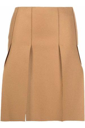 Dsquared2 Pleated slit-detail skirt - Neutrals