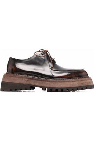 MARSÈLL Men Formal Shoes - Quadrarmato square-toe Derby shoes
