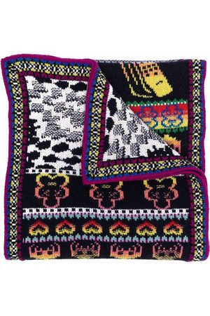 Stella McCartney Intarsia-knit scarf