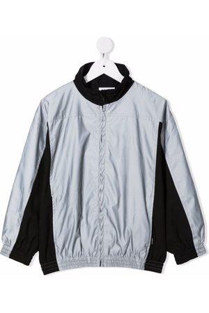 Molo Boys Bomber Jackets - Two-tone high-neck jacket