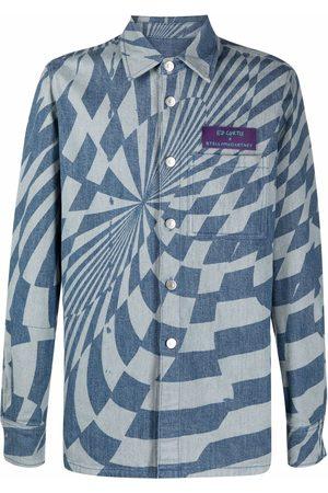 Stella McCartney Denim Jackets - X Ed Curtis geometric pattern denim jacket
