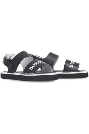 Burberry Sandals - Logo-print leather sandals