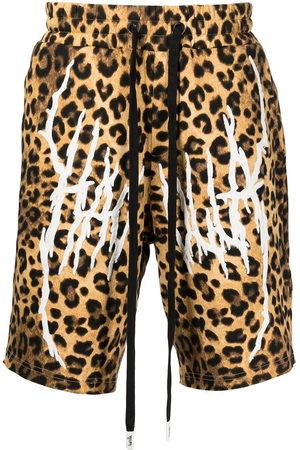 HACULLA Men Bermudas - Leopard-print logo shorts