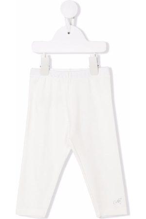 MONNALISA Baby Leggings - Rhinestone-embellished logo leggings