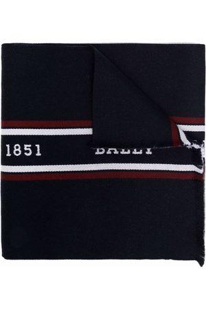 Bally Men Scarves - Logo-print wool scarf
