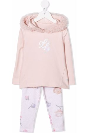 Lapin House Girls Tracksuits - Logo-embroidered tracksuit set