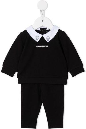 Karl Lagerfeld Sets - Logo-print cotton trousers set